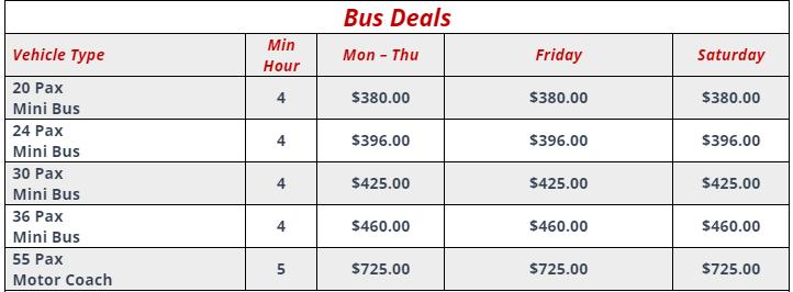 Cheap Bus Deals