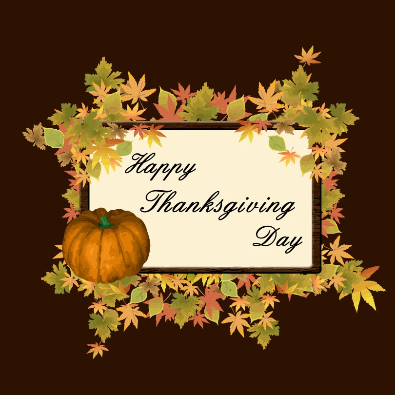 happy-thanksgiving-day-pumpkin-leaves-vector