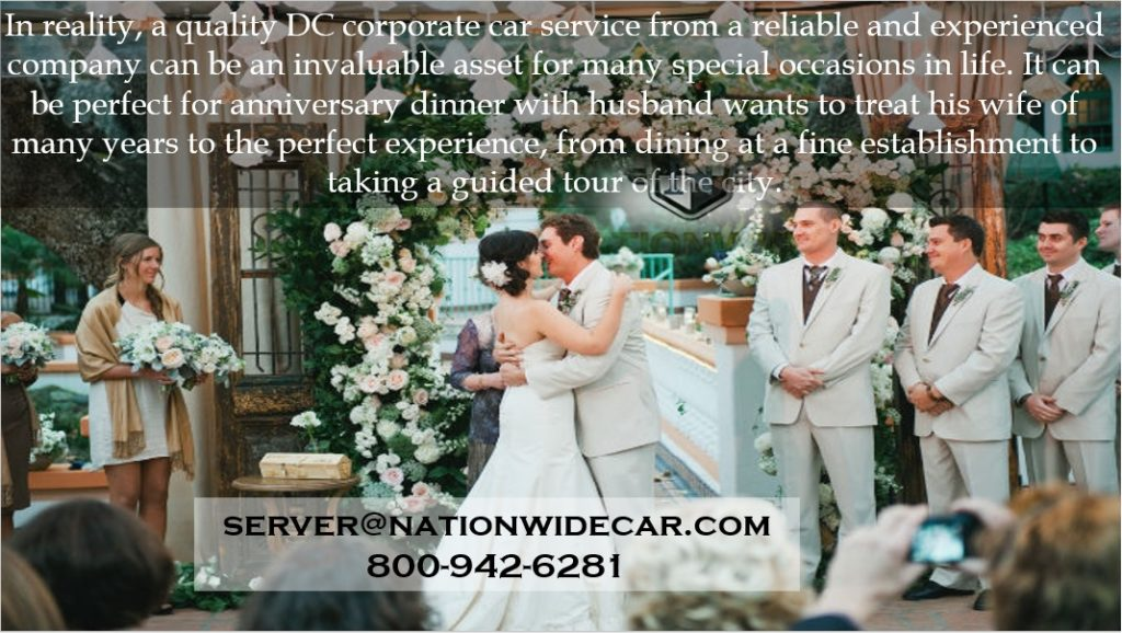 quality DC corporate car service for wedding