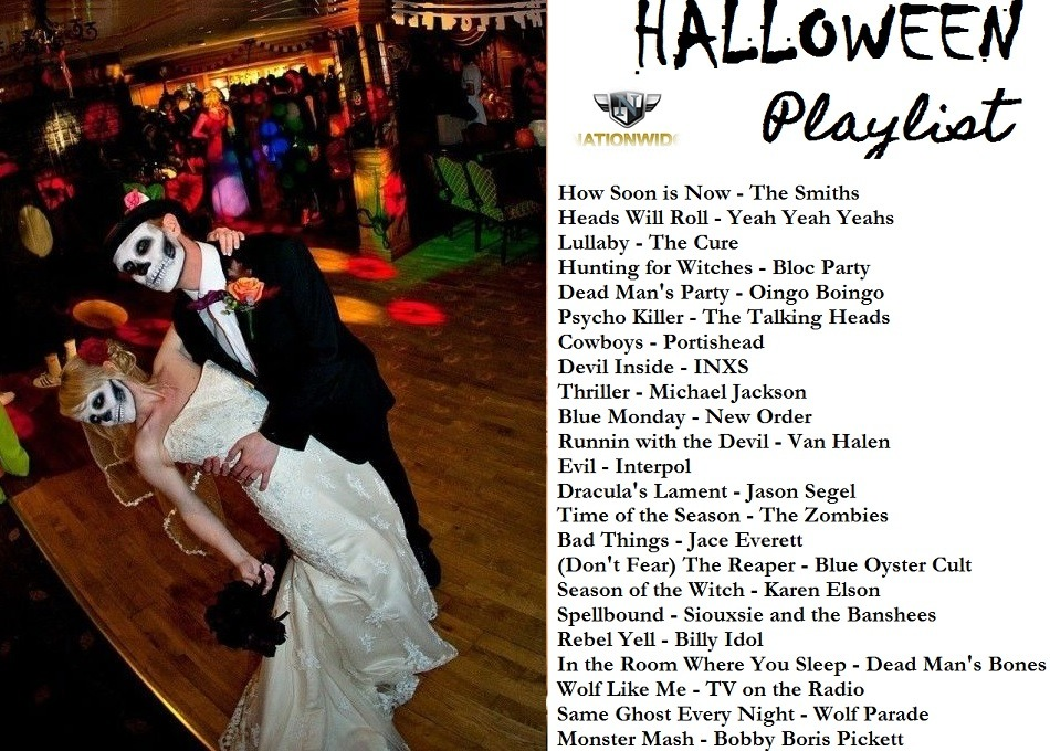 Best Songs for Your Halloween Wedding Playlist
