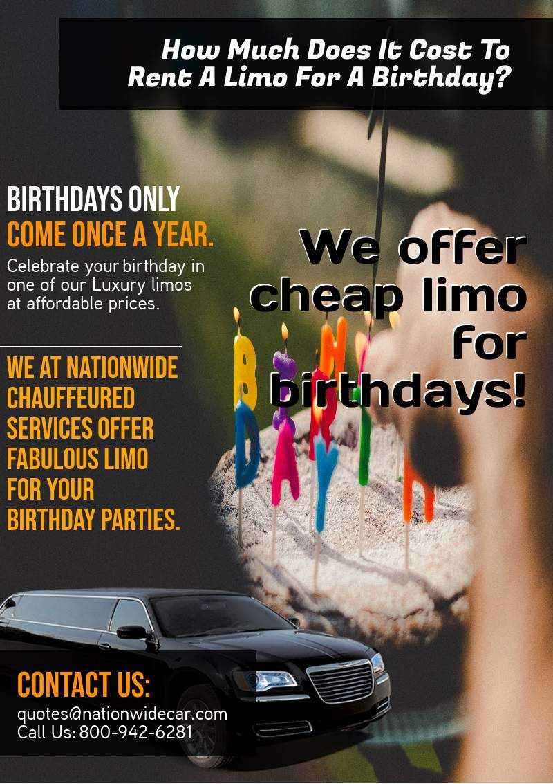 How Much Does It Cost To Rent Limos For A Birthday