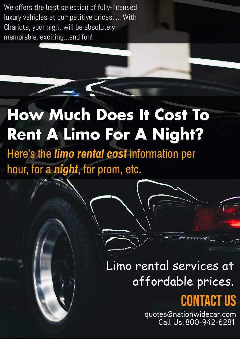 How Much Does It Cost To Rent A Limos For A Night