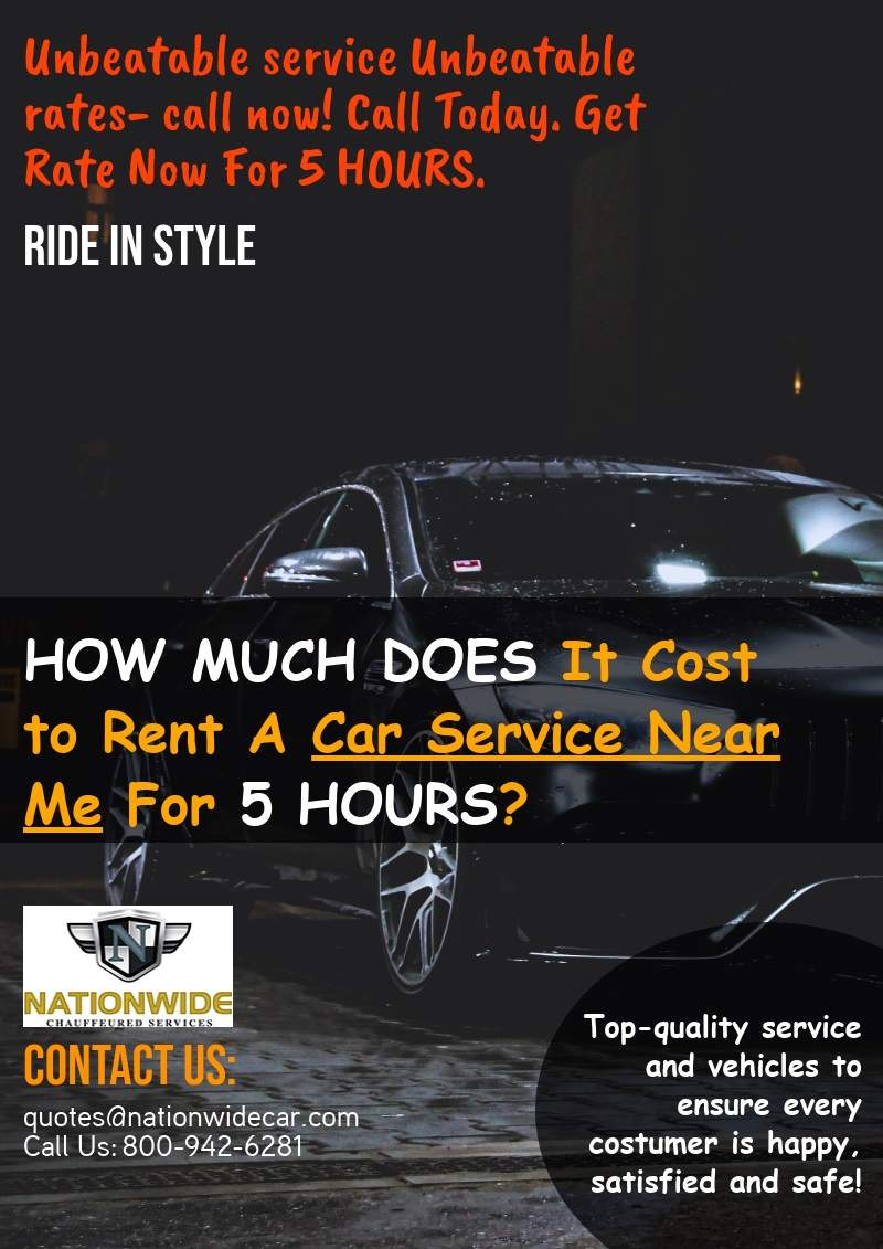 How Much Does It Cost to Rent A Car Services Near Me For 5 Hours