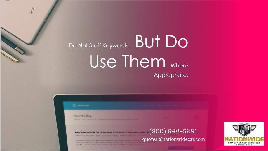 Do Not Stuff Keywords for Website