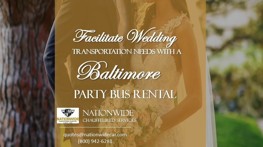 Facilitate Wedding Transportation Needs with a Baltimore Party Bus Rental