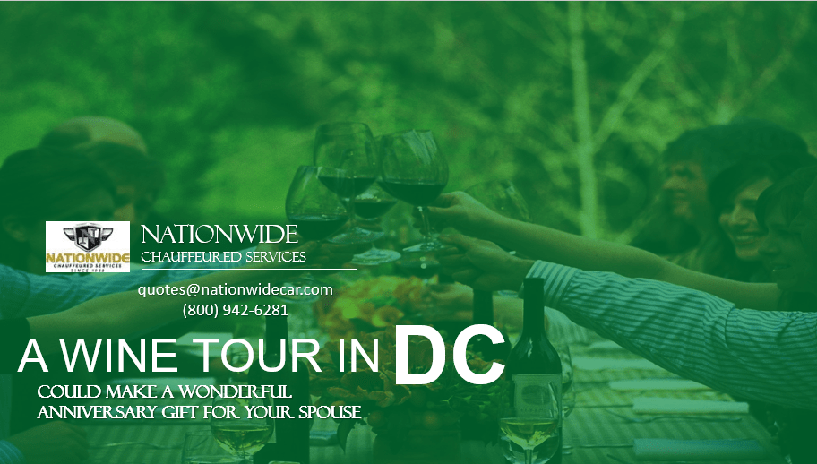 A Wine Tour in DC Could Make a Wonderful Anniversary Gift for Your Spouse
